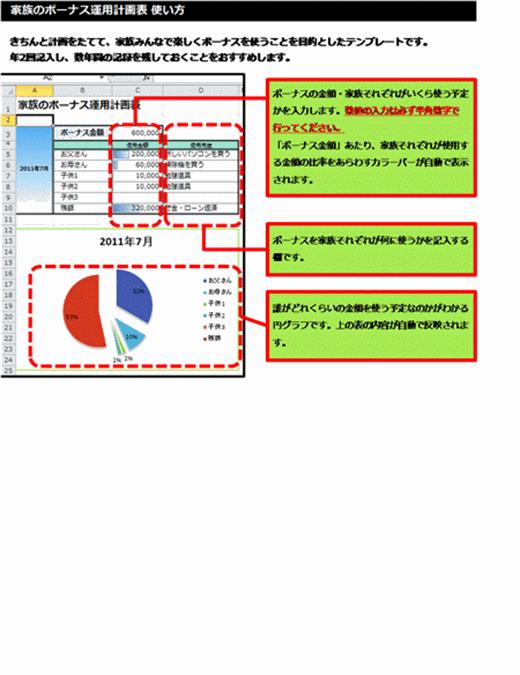 ボーナス運用計画表