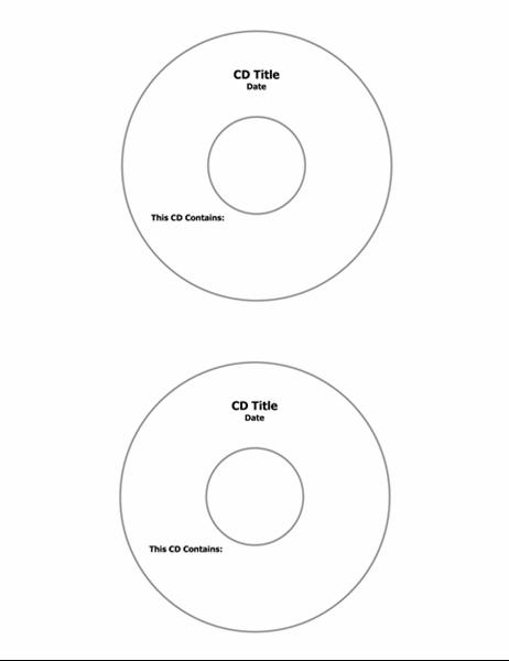 CD 盤面レーベル