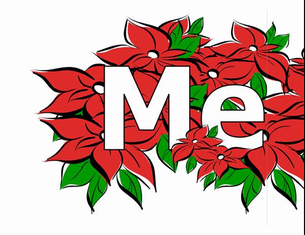 クリスマスの飾り (ポインセチア)