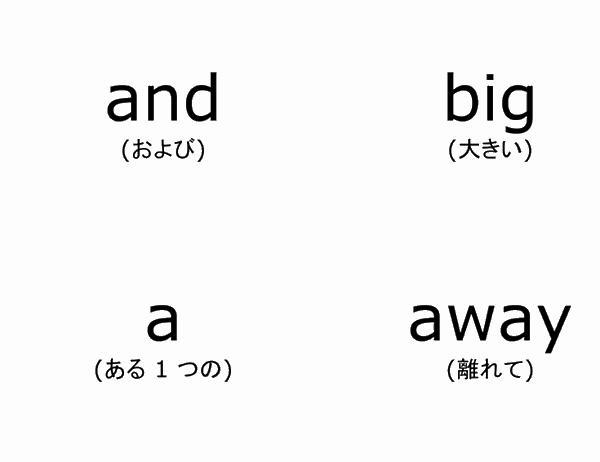 英単語フラッシュ カード (ドルチ英単語リスト入門、Avery 3263、8387 対応)