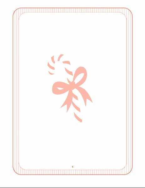 休暇用便箋 (キャンディの杖の透かし)