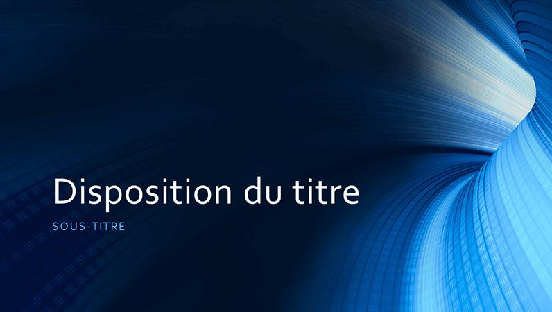 ビジネス用デジタルの青のトンネル プレゼンテーション (ワイドスクリーン)
