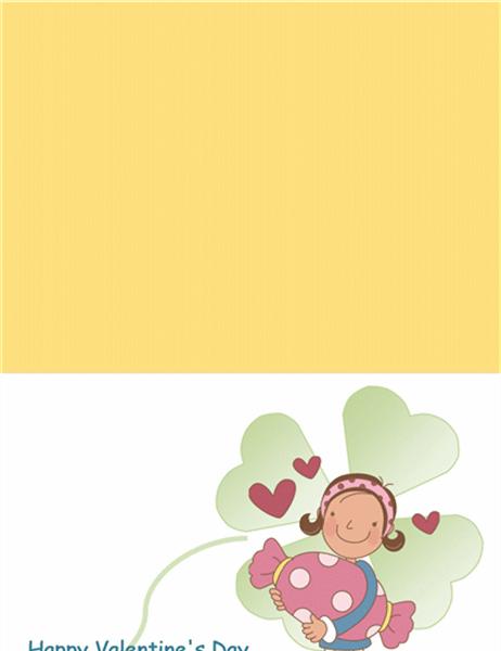 バレンタイン カード (はがきサイズ 3)