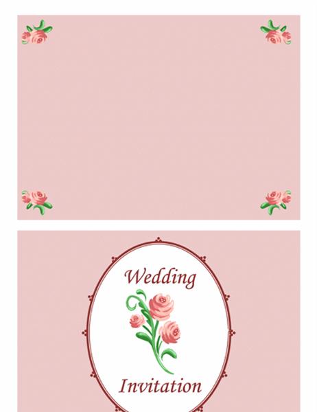 結婚招待状表紙 (ローズ)
