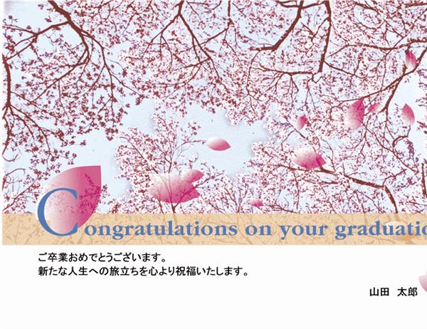 卒業お祝い はがき