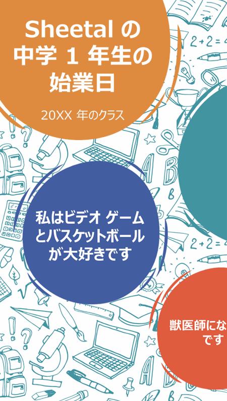 新学年度の始業日のポスター