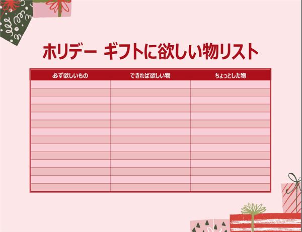 大人のためのクリスマスの欲しい物リスト