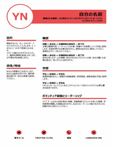 洗練された履歴書 (デザイン協力: MOO 社)