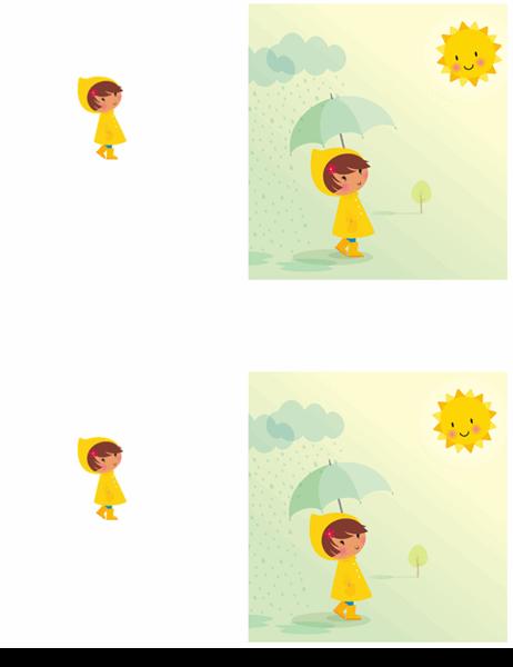雨の日の友情カード