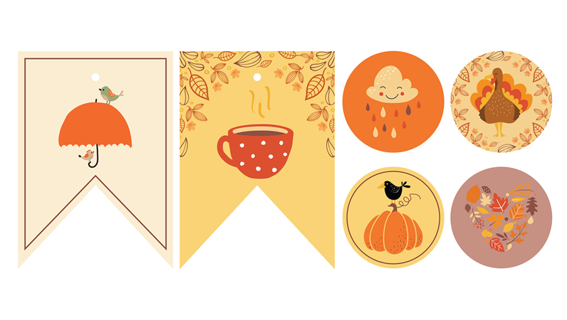 秋のパーティーの印刷物
