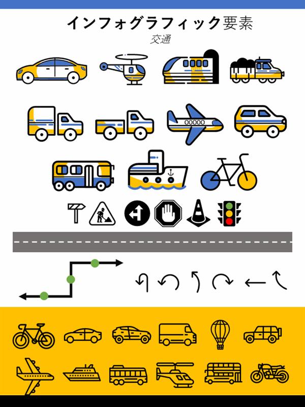 インフォグラフィック要素の交通手段