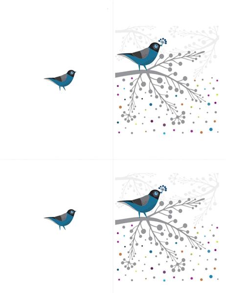 鳥と果実のメモカード