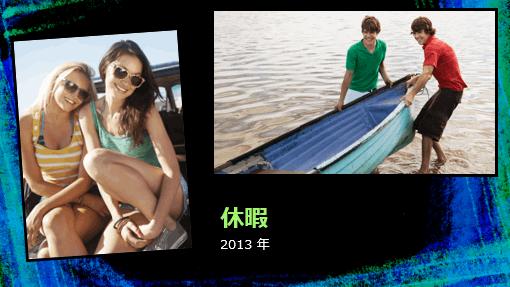 休暇のフォト アルバム (チョークのデザイン)