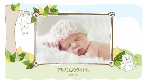 赤ちゃんのフォト アルバム (動物のスケッチ、ワイド画面)
