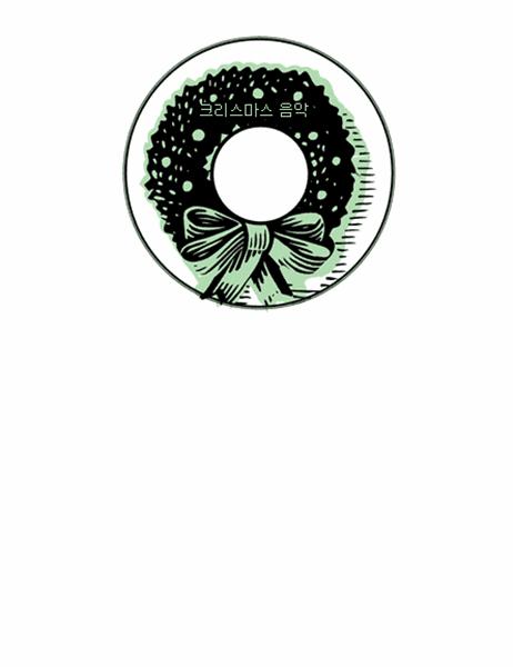 크리스마스 음악 CD 표면 레이블(Avery 5824 용지용)