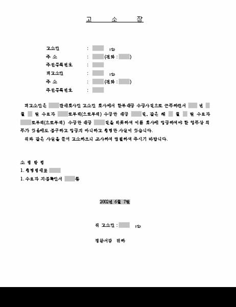 고소장(3)