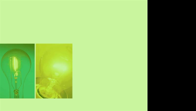 녹색 백열등 디자인 서식 파일