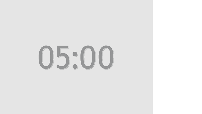 5분 타이머 슬라이드(회색)