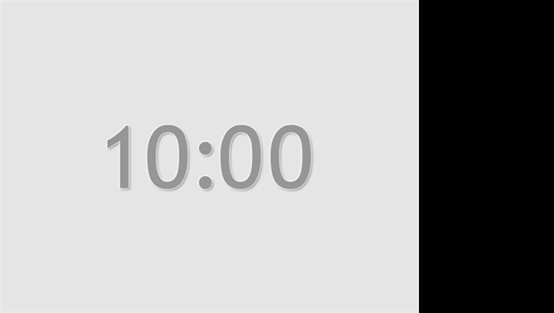 10분 타이머 슬라이드(회색)