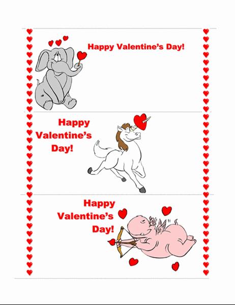 발렌타인 데이 카드(3페이지)