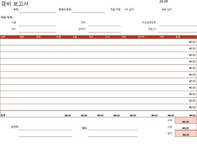 지출 보고서