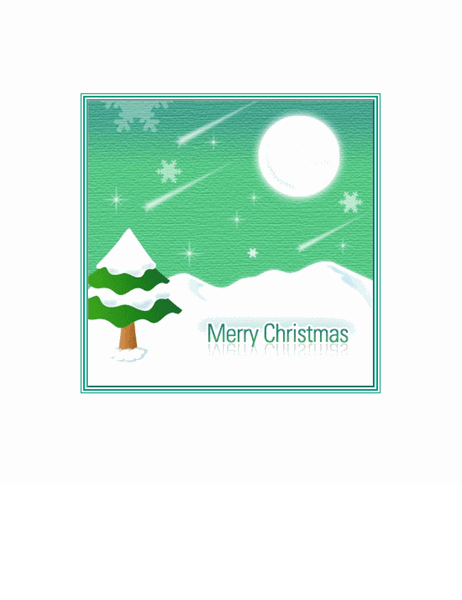 크리스마스 카드(크리스마스 트리)