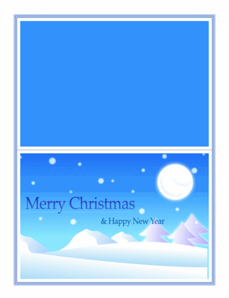 크리스마스 카드(화이트 크리스마스)