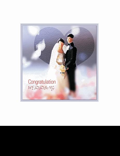 결혼 축하 카드(커플 인형)