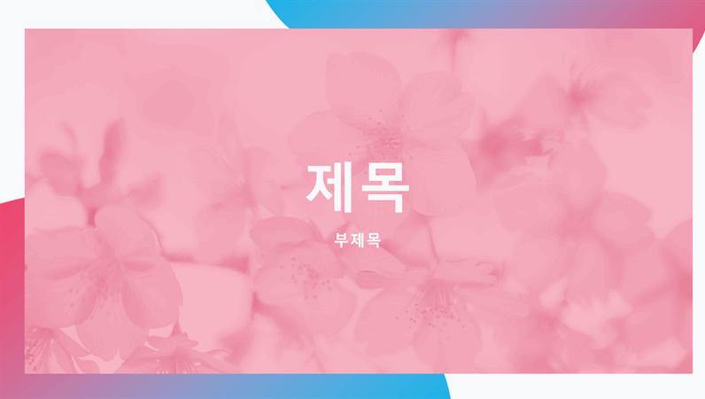 벚꽃 꽃잎 프레젠테이션