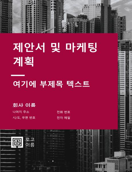 업무용 보고서(전문적인 디자인)