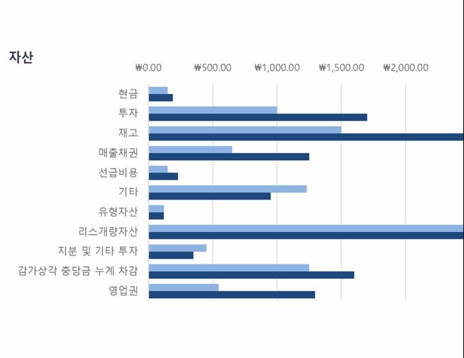 파란색 대차대조표