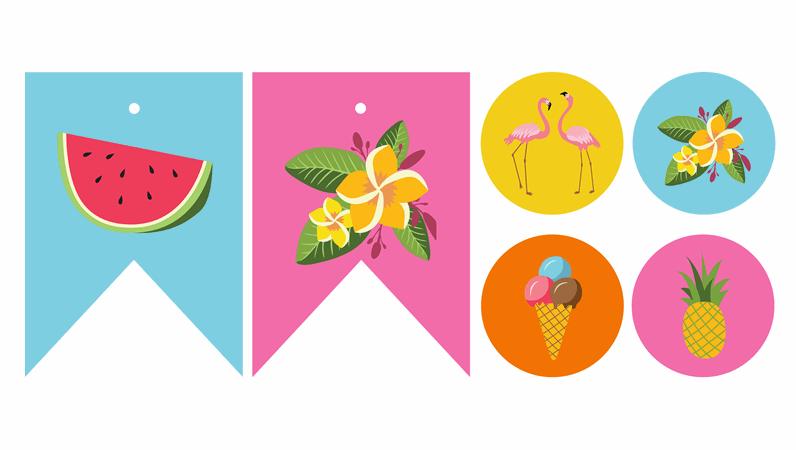 여름 파티 인쇄물