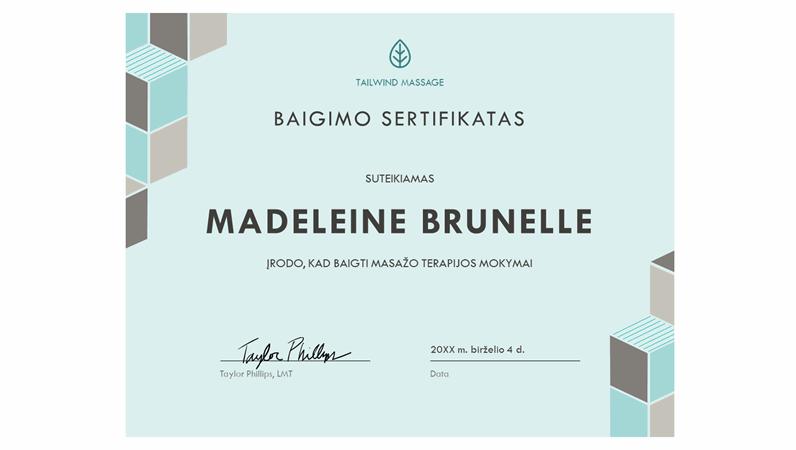 Baigimo sertifikatas