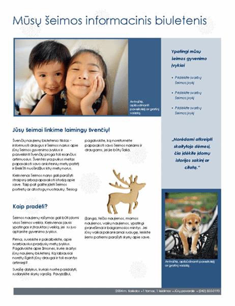 Šeimyninis Kalėdų informacinis biuletenis