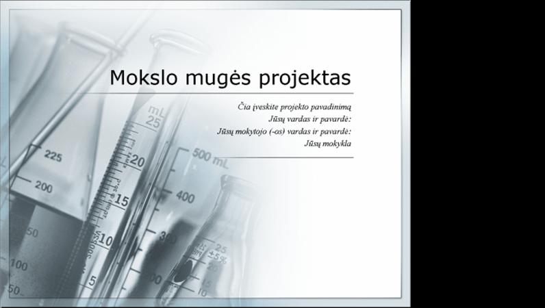 Mokslo mugės projekto pristatymas