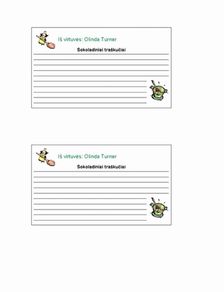 Receptų kortelės (personalizuotos, 2 psl.)