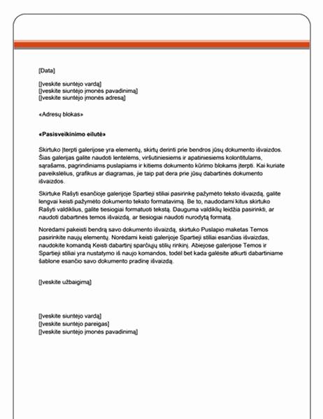 Laiškų suliejimo laiškas (standartinė tema)