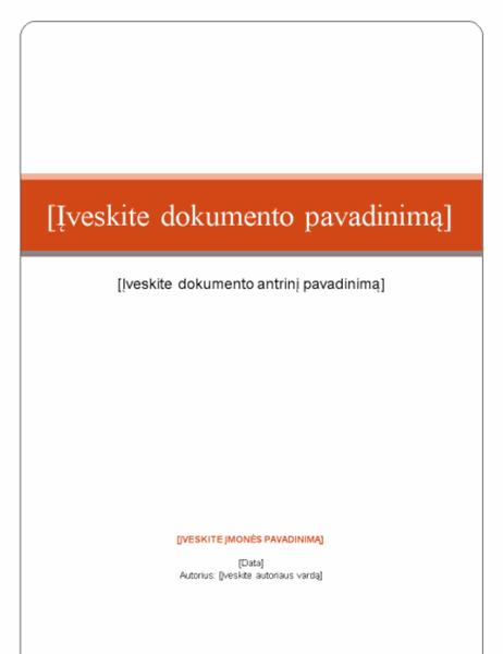 Ataskaita (standartinė tema)