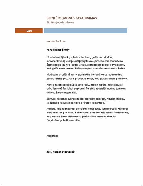 """Laiškų suliejomo laiškas (tema """"Mediana"""")"""