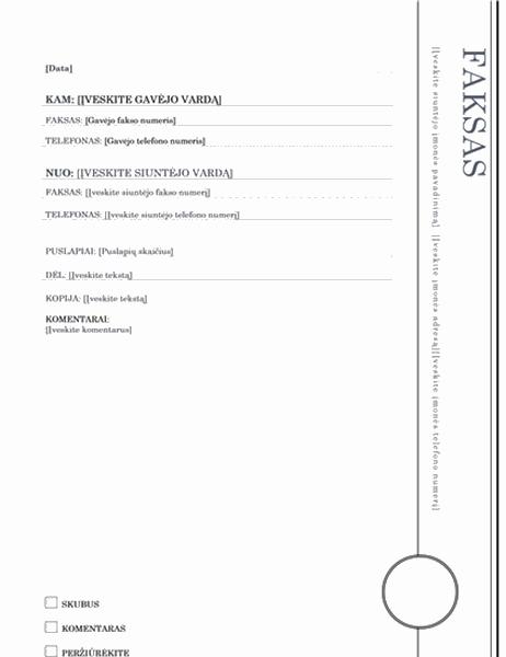 Faksograma (išdalinta tema)