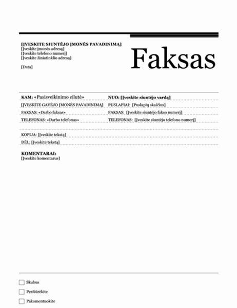 Laiškų suliejimo faksograma (miestiška tema)