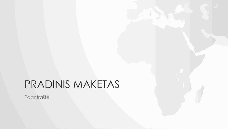 Pasaulio žemėlapių serija, Afrikos žemyno pateiktis (plačiaekranė)