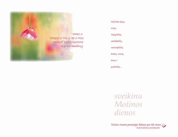 Motinos dienos atvirukas (akvarelė)