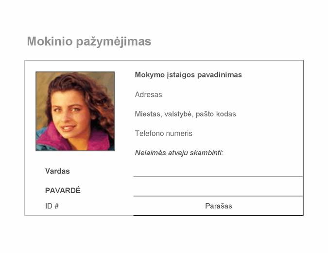 Mokinių tapatybės kortelė