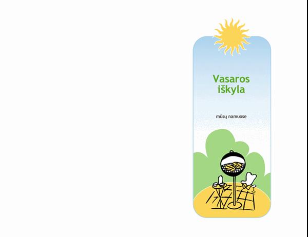 Kvietimas į vasaros iškylą su kepsniais