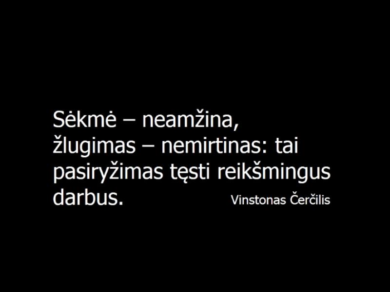 Vinstono Čerčilio citatos skaidrė