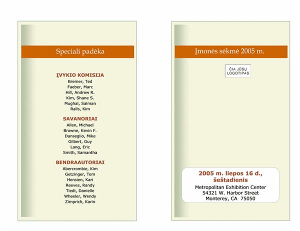 Verslo įvykių tvarkaraštis