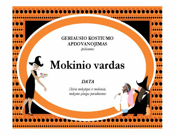 Geriausio Helovino kostiumo apdovanojimas