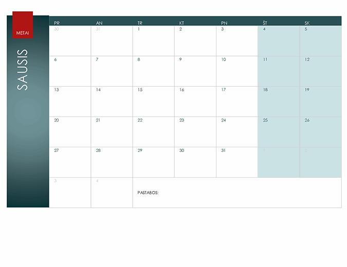 Bet kurių metų kalendorius (jonų tema)