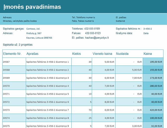 Pardavimo sąskaitos faktūros sekimo priemonė